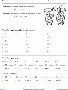 Square and Cube Roots Worksheet Elegant 1000 Images About Math Square Roots On Pinterest