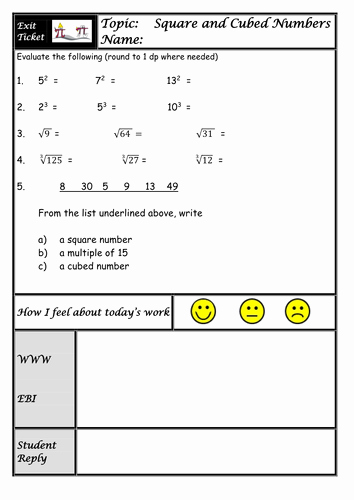 Square and Cube Roots Worksheet Fresh Square Roots and Cube Roots Lesson Visual Approach with