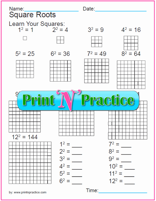 Square Root Practice Worksheet Fresh Exponent Worksheets with Rules