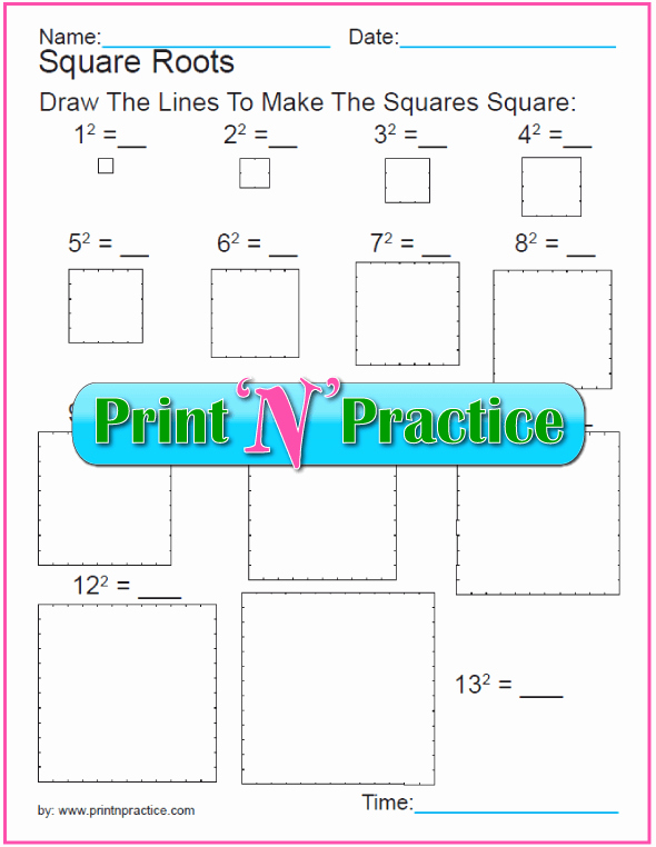 Square Root Practice Worksheet Inspirational 18 Exponent Worksheets for Practice