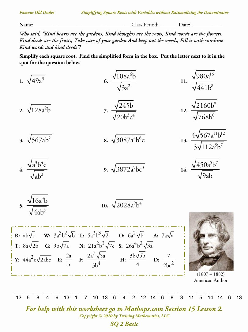 Square Root Worksheet Pdf Beautiful Square Root Worksheet