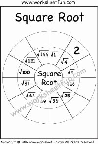 Square Root Worksheet Pdf Fresh 1000 Images About Squares & Square Roots On Pinterest