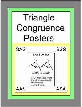 Sss Sas asa Aas Worksheet Awesome Free Downloads Triangle Congruence Posters Sss Sas