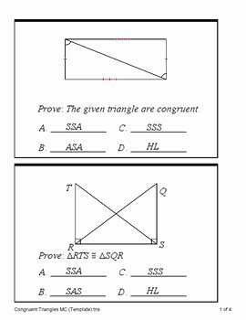 Sss Sas asa Aas Worksheet Elegant Triangle Congruence Proofs Sss Sas asa Aas and Hl
