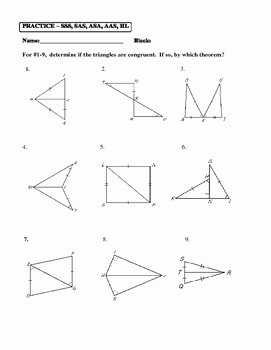 Sss Sas asa Aas Worksheet Fresh Geometry Unit 8 Congruent Triangles Sss Sas asa Aas Hl