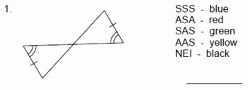 Sss Sas asa Aas Worksheet Fresh Triangles Congruent Triangles Coloring Activity 2 Sss