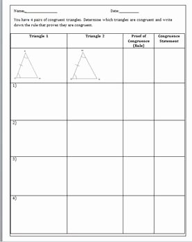 Sss Sas asa Aas Worksheet Inspirational Congruent Triangles Activity Sss asa Sas Aas