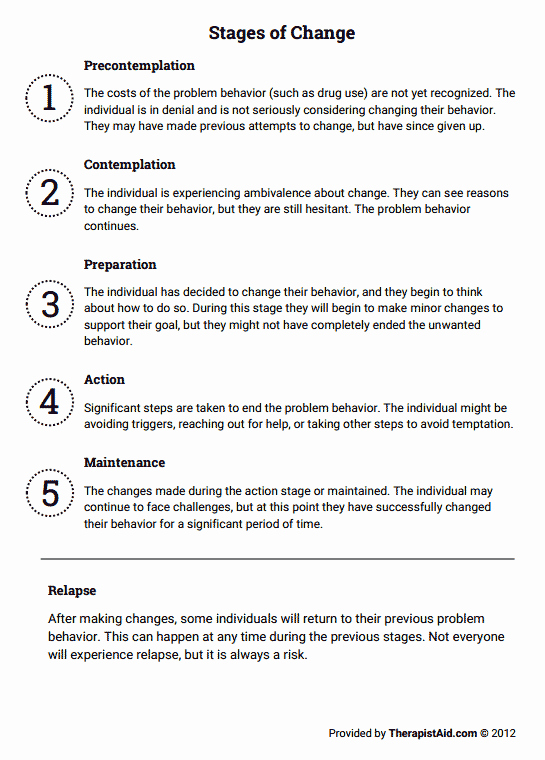Stages Of Change Worksheet Best Of Stages Of Change Worksheet