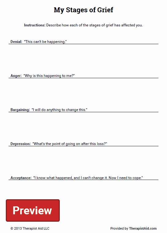 Stages Of Change Worksheet Elegant My Stages Of Grief Worksheet