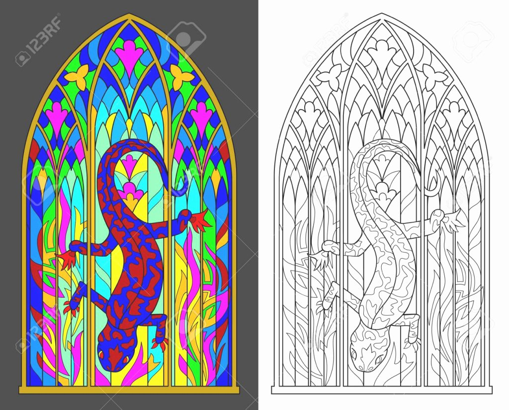 Stained Glass Windows Worksheet Beautiful Download This Colorful and Black and White Pattern