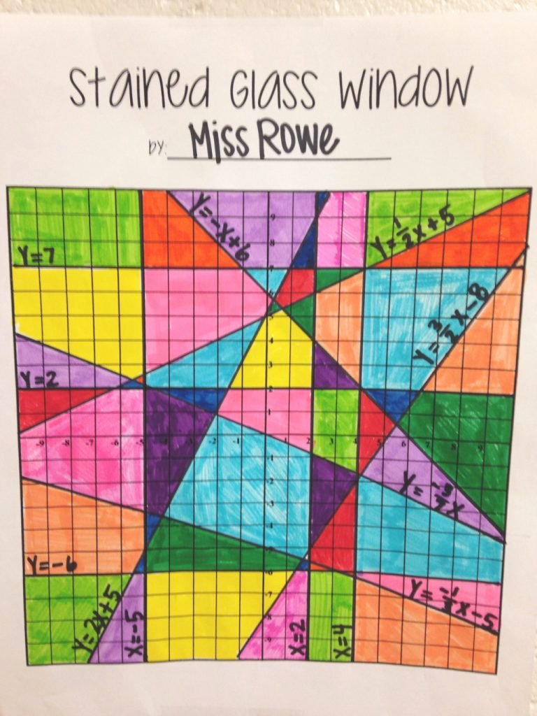 Stained Glass Windows Worksheet Beautiful Our Review Of Stained Glass Window Linear Equations