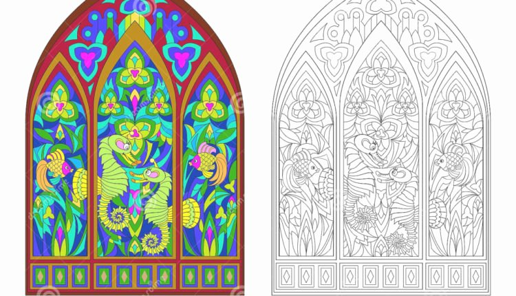 Stained Glass Windows Worksheet Best Of the Best Template Of Colorful and Black and White Pattern