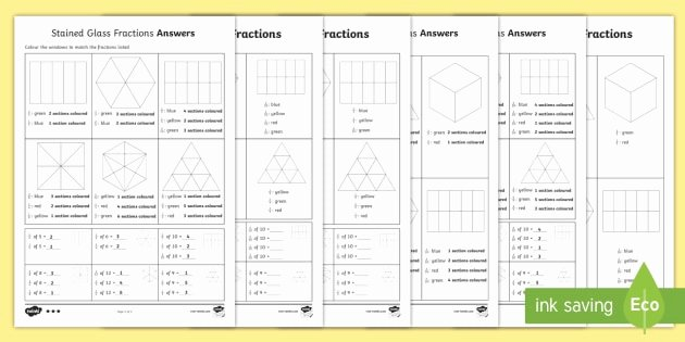 Stained Glass Windows Worksheet Elegant Year 3 Stained Glass Fractions Differentiated Activity Sheets