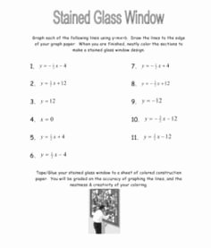 Stained Glass Windows Worksheet Fresh 1000 Images About Middle School Math On Pinterest