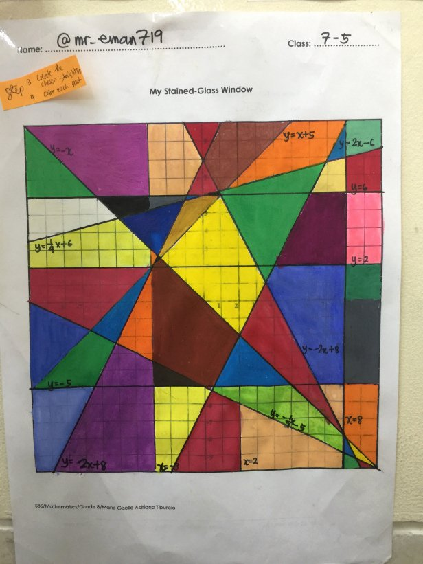 Stained Glass Windows Worksheet Fresh My Stained Glass Window Project – Math Medicine