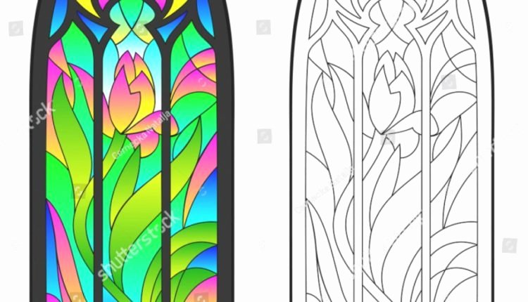 Stained Glass Windows Worksheet Inspirational Awesome Colorful Black White Pattern Gothic Stained Stock