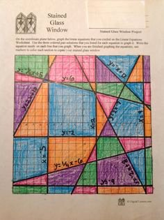 Stained Glass Windows Worksheet Lovely Linear Equations On Pinterest