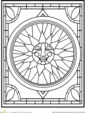 Stained Glass Windows Worksheet Luxury Stained Glass Window Worksheet