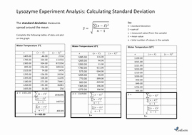 Standard Deviation Worksheet with Answers New Calculate Standard Deviation Worksheet with Answers by