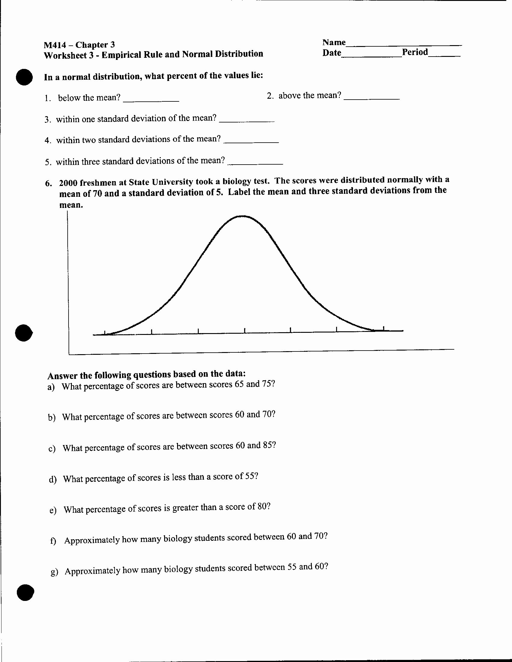 Standard Deviation Worksheet with Answers Unique Afm Lessons