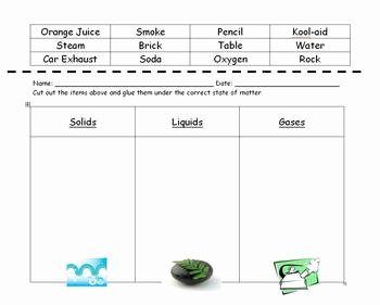 State Of Matter Worksheet Elegant States Of Matter sorting Worksheet by Amanda Cassella