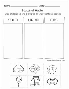 State Of Matter Worksheet Luxury States Matter Preschool