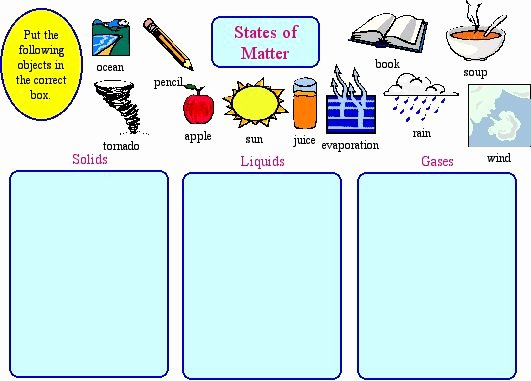 State Of Matter Worksheet Unique solids Liquids and Gases Mrs Johnston S Class Blog