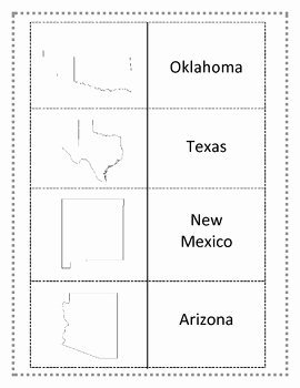 States and Capitals Matching Worksheet Inspirational southwest Region Worksheets and Flashcards Matching Label