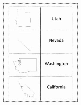 States and Capitals Matching Worksheet New West Region Worksheets and Flashcards Matching Label