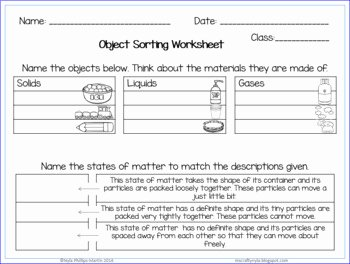 States Of Matter Worksheet Chemistry Elegant States Of Matter Activities Worksheets Definition Cards