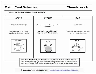 States Of Matter Worksheet Chemistry Inspirational Our solid Liquid Gas Worksheet Tells What the Molecules