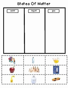States Of Matter Worksheet Fresh States Of Matter for Kids Activities Google Search