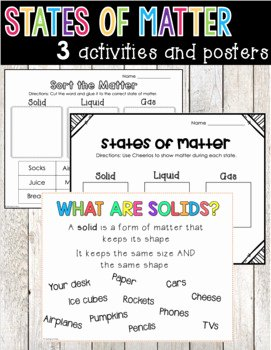 States Of Matter Worksheet Fresh States Of Matter Worksheet solid Liquid Gas by