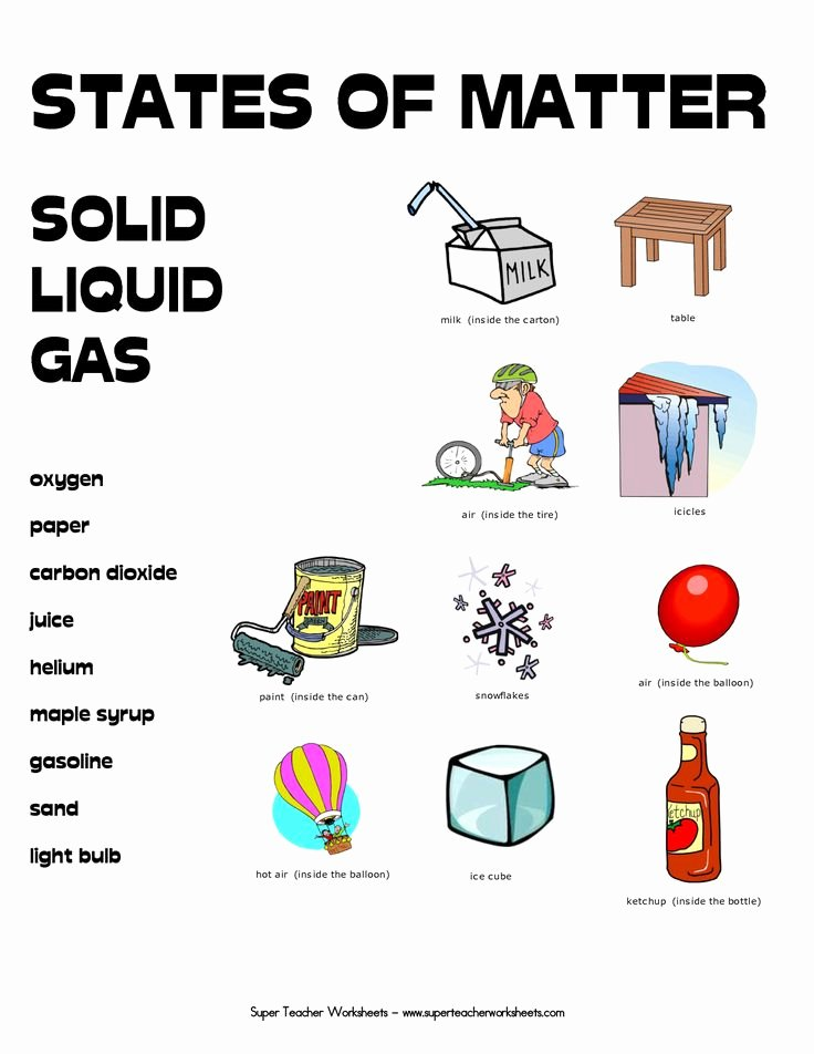 States Of Matter Worksheet Inspirational 8 Best Images About States Of Matter On Pinterest