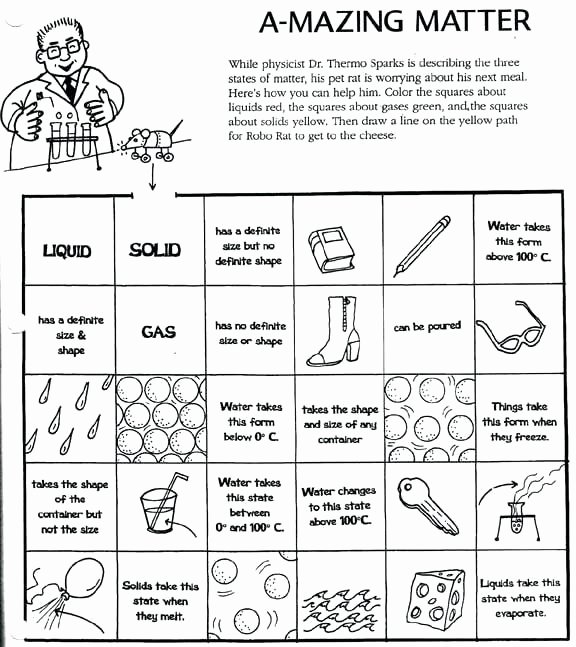 States Of Matter Worksheet Pdf Awesome solid Liquid Gas Activities – Freenovelsub