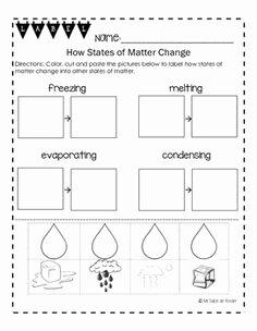 States Of Matter Worksheet Pdf New Free Printable Phases Of Matter Worksheets