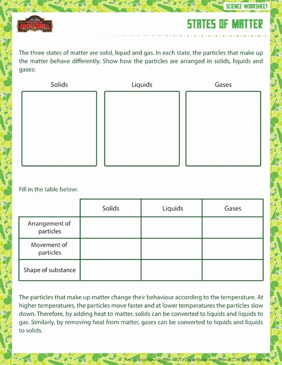 States Of Matter Worksheet Pdf New States Of Matter View – 6th Grade Physical Worksheet – sod