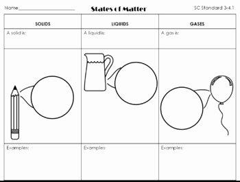 States Of Matter Worksheet Unique Molecules Worksheet States Of Matter