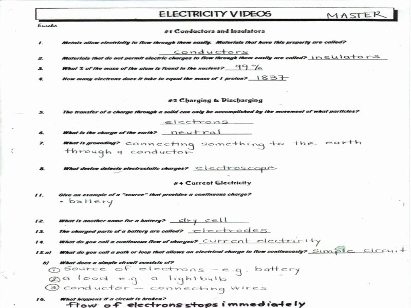 Static Electricity Worksheet Answers Fresh Bill Nye Energy Worksheet Answers Free Printable Worksheets