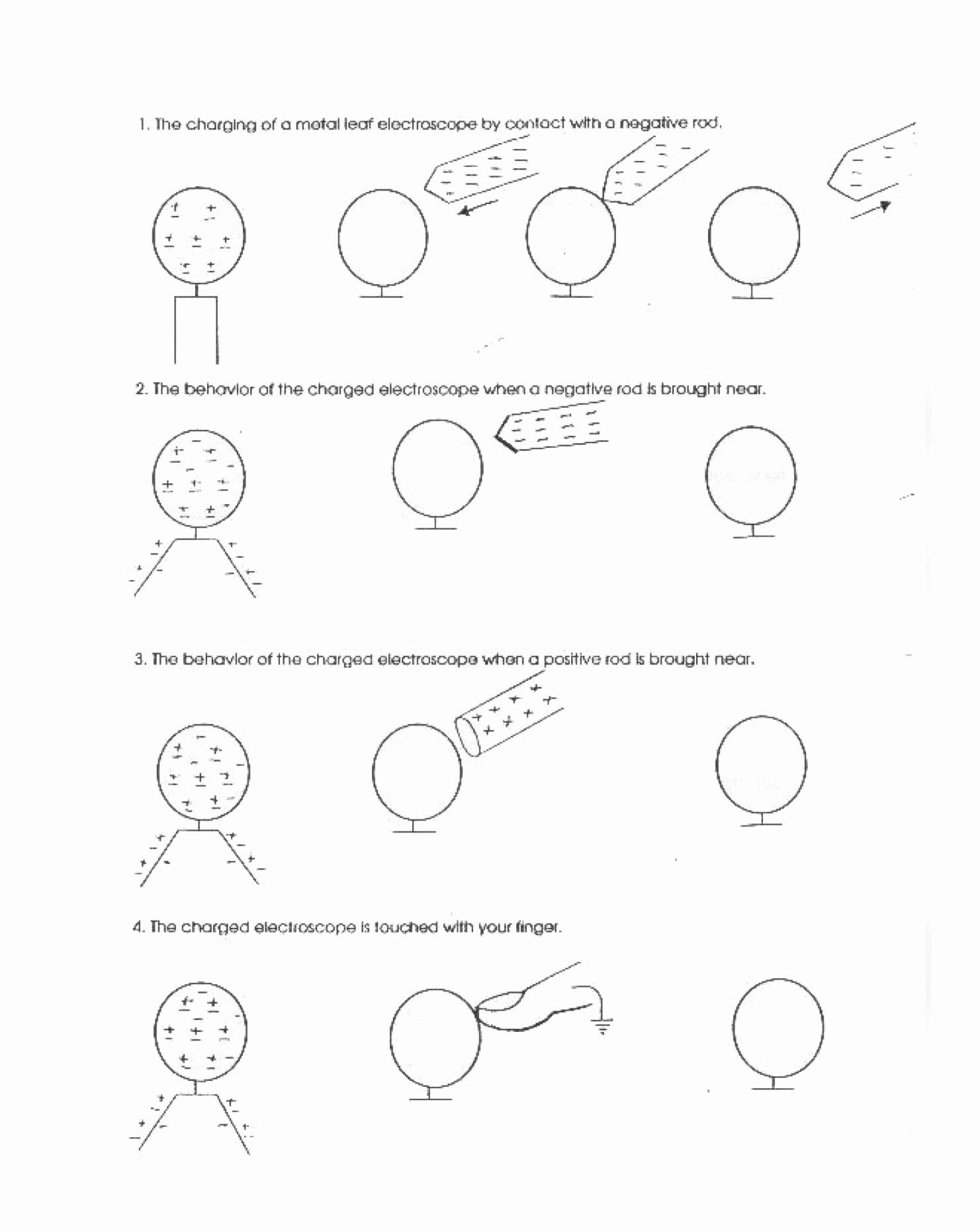 Static Electricity Worksheet Answers Inspirational Metal Leaf Electroscope Contact & Induction Worksheet