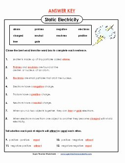 Static Electricity Worksheet Answers Luxury Preview 2