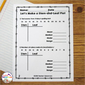 Stem and Leaf Plot Worksheet Best Of Making A Stem and Leaf Plot with Mean Mode Median Range