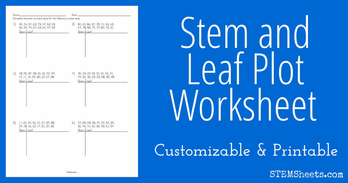 Stem and Leaf Plot Worksheet Best Of Stem and Leaf Plot Worksheet
