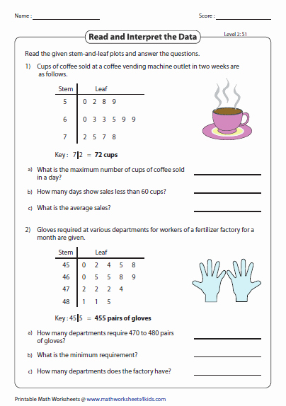 Stem and Leaf Plot Worksheet Unique Stem and Leaf Plot Worksheets