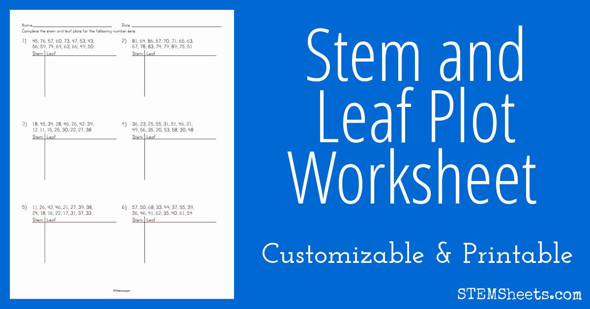 Stem and Leaf Plots Worksheet Beautiful Stem and Leaf Plot Worksheet