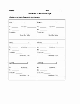 Stem Changing Verbs Worksheet Lovely Spanish Preterite Stem Changing Verbs E to I & O to U