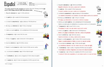Stem Changing Verbs Worksheet Luxury Spanish Stem Change Verbs & Time 12 Sentences Worksheet by