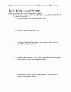 Stoichiometry Problems Worksheet Answers Fresh Stoichiometry Worksheet with Key by Techno Teacher Store