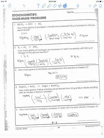 Stoichiometry Problems Worksheet Answers Luxury Sam Schoderbek Chemistry Stoichiometry Mole Mole Problems