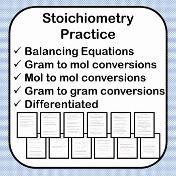 Stoichiometry Worksheet Answer Key Awesome Stoichiometry Practice Worksheet W Answer Key 2 Versions